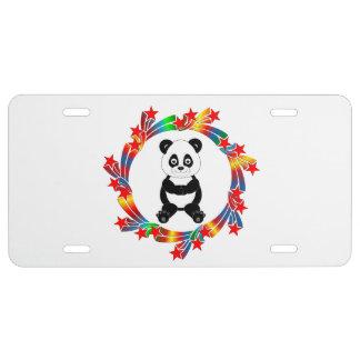 Panda Stars License Plate