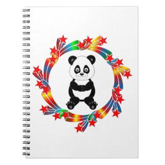 Panda Stars Spiral Notebook