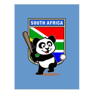 Panda sud-africain de base-ball cartes postales