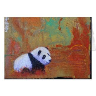 Panda Sunset Card