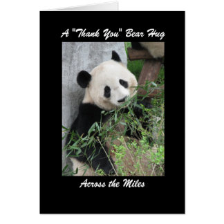 Panda  Thank You Bear Hug Across the Miles Card