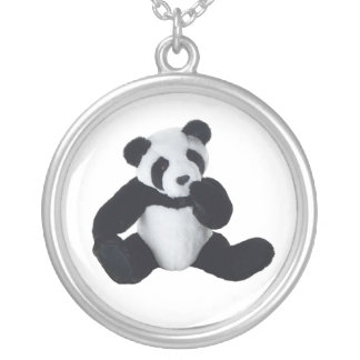Panda Toy Silver Plated Necklace