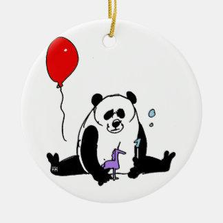 Panda try unicorn and Inmerstab soapbubble toy Ceramic Ornament