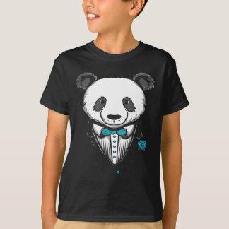 Panda Tuxedo T-Shirt With Aqua Bow Tie