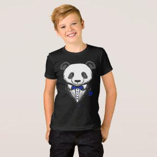 Panda Tuxedo T-Shirt With Blue Bow Tie