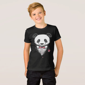 Panda Tuxedo T-Shirt With Pink Bow Tie