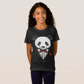 Panda Tuxedo T-Shirt With Red Bow Tie