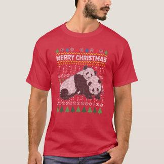 Panda Ugly Christmas Sweater Wildlife Series