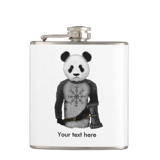Panda Viking Helm Of Awe Hip Flask