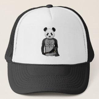 Panda Viking Helm Of Awe Trucker Hat