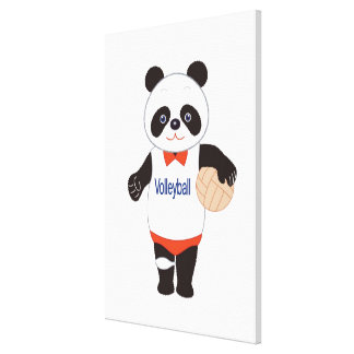 Panda Volleyball Player Gallery Wrap Canvas