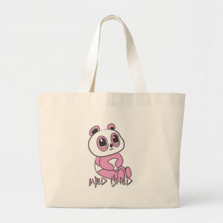 Panda WC pink Large Tote Bag