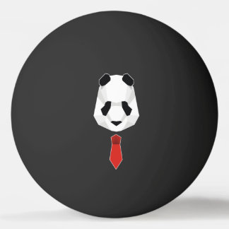 Panda Wearing A Tie Ping Pong Ball