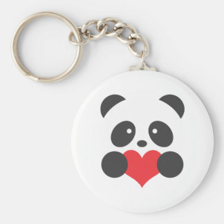 Panda with a heart keychain