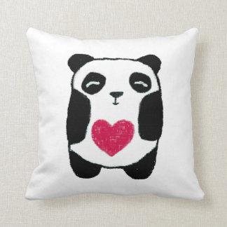 Panda with a heart Pillow