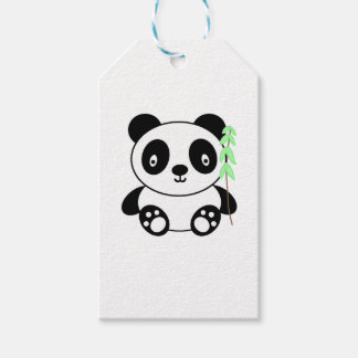 Panda with Bamboo Gift Tags