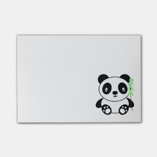Panda with Bamboo Post-it Notes