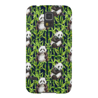 Panda With Bamboo Watercolor Pattern Galaxy S5 Covers