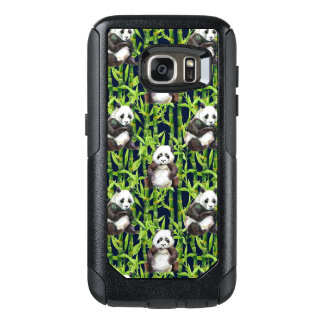 Panda With Bamboo Watercolor Pattern OtterBox Samsung Galaxy S7 Case