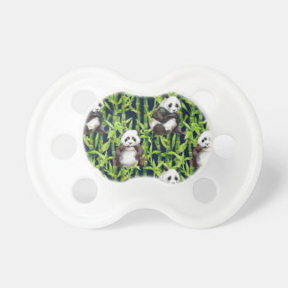 Panda With Bamboo Watercolor Pattern Pacifiers