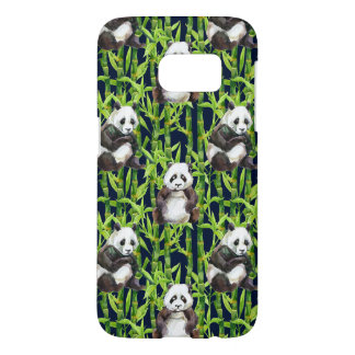 Panda With Bamboo Watercolor Pattern Samsung Galaxy S7 Case