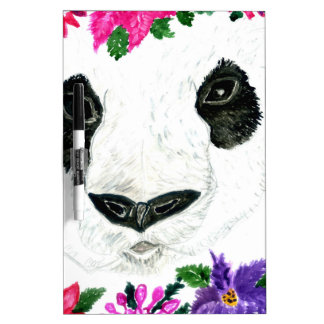 Panda with Flowers Dry Erase Board