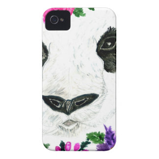 Panda with Flowers iPhone 4 Cases