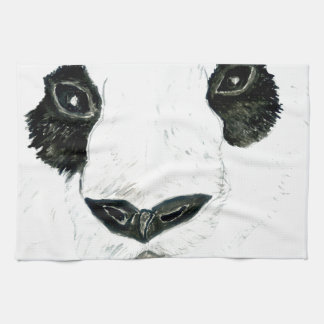 Panda with Flowers Kitchen Towel