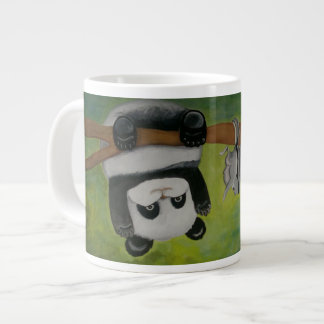 Panda with flying squirrel large coffee mug