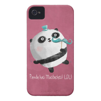 Panda with Mustaches iPhone 4 Case-Mate Cases