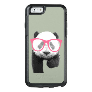 Panda with Pink Glasses Cute Funny Phone Case
