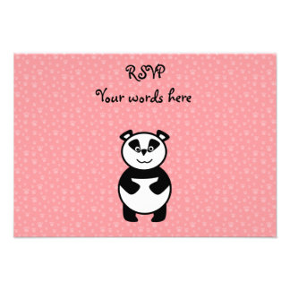 Panda with pink paw background announcements