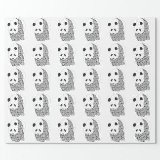 Panda With Tattoo Roses