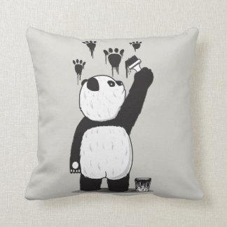 Pandalism throw pillow
