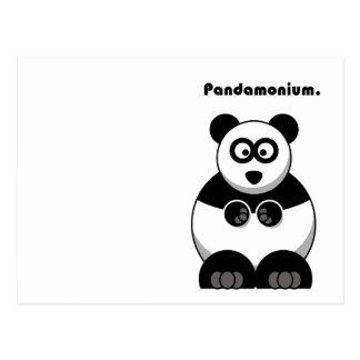 Pandamonium Panda Cartoon Postcard