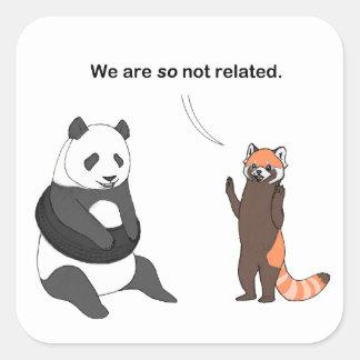 Pandas : Ainsi autocollant non relatif