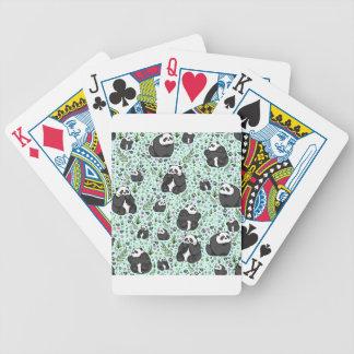 Pandas Bicycle Playing Cards