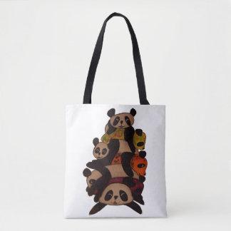 Pandas chilling tote bag
