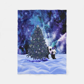 Panda's Christmas Holiday at the North Pole Fleece