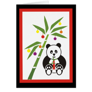 Panda's Christmas Meal! Card