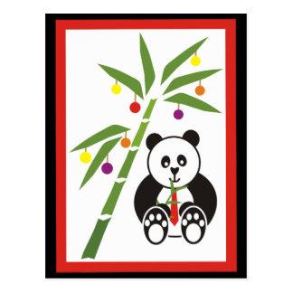 Panda's Christmas Meal! Postcard