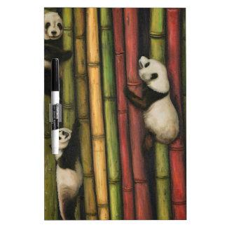 Pandas Climbing Bamboo Dry Erase Whiteboards