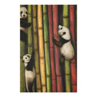 Pandas Climbing Bamboo Stationery