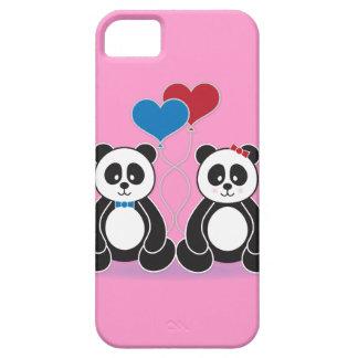 Pandas doux de garçon et de fille dans l amour coques Case-Mate iPhone 5