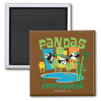 Pandas Everywhere Magnet