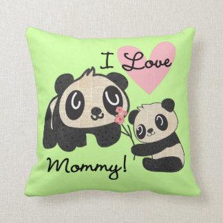 Pandas I Love Mommy Throw Pillow