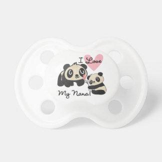 Pandas I Love My Nana Pacifier