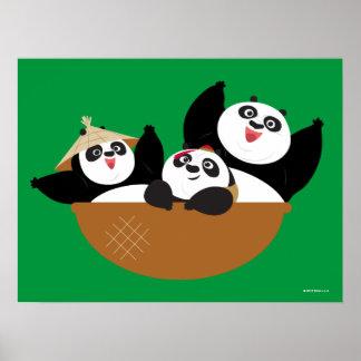 Pandas in a Bowl Poster
