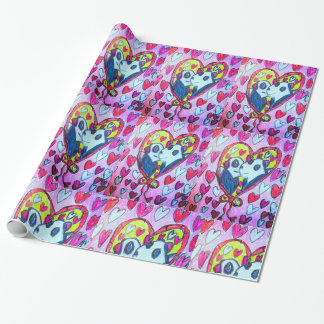 Pandas love wrapping paper