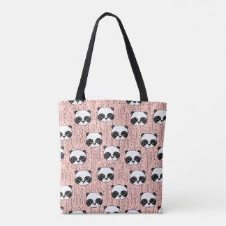 Pandas - Panda - Tiny Pale Pink / Andrea Lauren Tote Bag